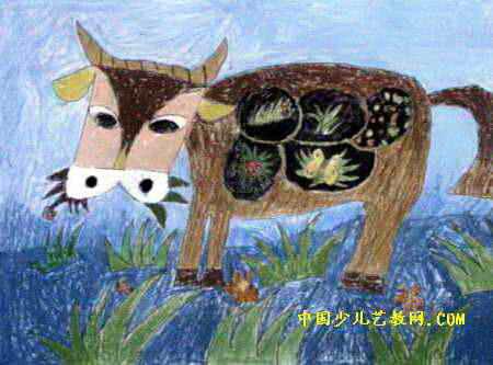 牛有五个胃儿童画
