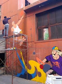 太原街头涂鸦插画彩绘