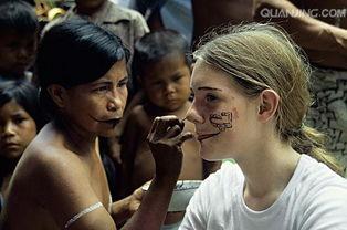 印第安人脸部彩绘-女孩图片