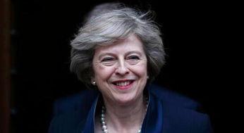 英国新首相theresamay,图片来自视觉中国