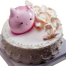 生日蛋糕 粉红kitty 生日祝福