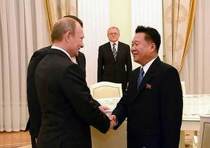 图为俄罗斯总统会见朝鲜最高领导人特使崔龙海.
