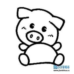 可爱小猪的简笔画