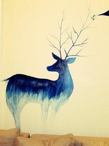 唯美动漫森林鹿图片