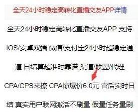 cpa网赚项目(网赚真实吗?)