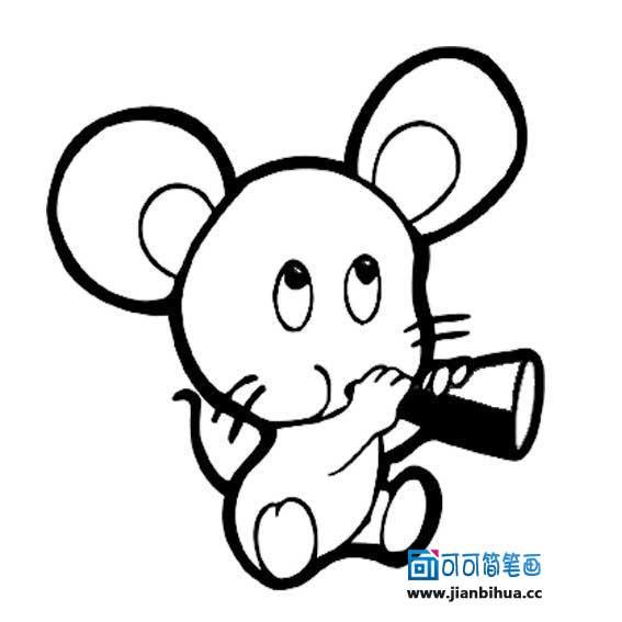 卡通老鼠简笔画图片