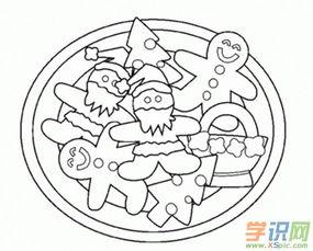 简笔画饼干画法5