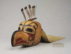 木刻印第安人节日面具 1973年10月,加拿大总理特鲁多赠予周恩来总...