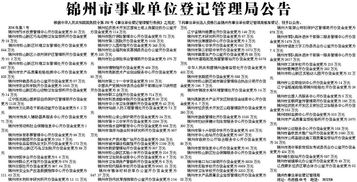 锦州都有哪些事业单位