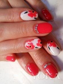 短小指甲也能画出春天小花花