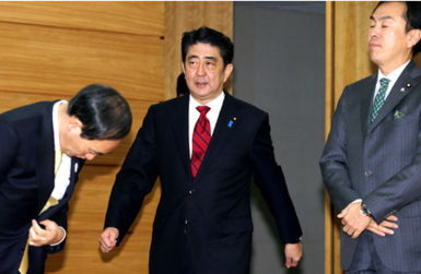 安倍昨日出席日本国会众院全体会议明确要修宪解禁集体自卫权