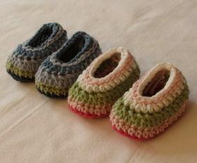 钩针宝宝鞋编织教程