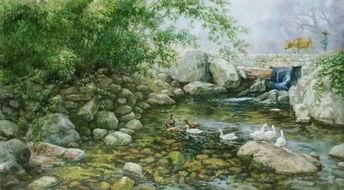 我的家乡风情油画作品,有一种朴实真正的美