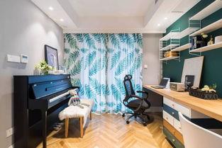 晒晒89平米的北欧风,摩登家居,最钟爱书房的钢琴