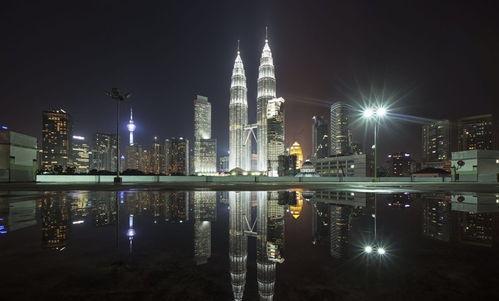 马来西亚国家石油双子塔图片