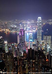 香港城市夜景图片