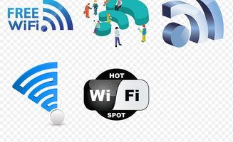 无线WIFI手机信号海报素材背景PNG图片 模板下载 9.81MB 其他大全 生活工作