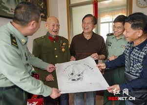 墨虾传情 画家齐石坚水墨精品赠送老红军