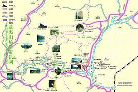 武夷山旅游地图攻略手绘