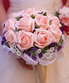 新娘手捧花鲜花速递合肥婚庆鲜花合肥新娘手捧花韩式香槟玫瑰JH8
