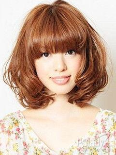 圆脸女生短发发型