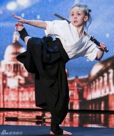 组图 英国9岁武术神童化身超杀女 惊艳达人秀
