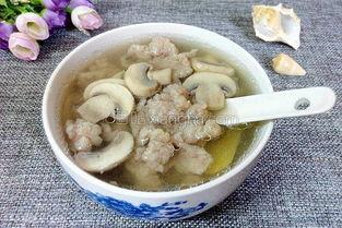 蘑菇肉沫汤的家常做法