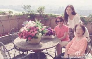 林志玲和妈妈、外婆在一起
