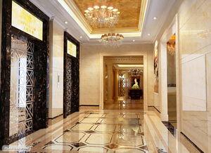客厅走廊地砖效果图 过道拼花地面砖