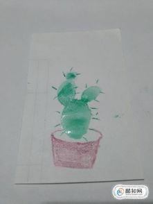仙人掌盆栽简笔画怎么画,怎么画仙人掌