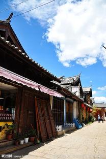 香格里拉古镇藏式建筑图片