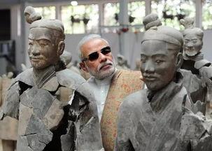 印度总理莫迪参观兵马俑