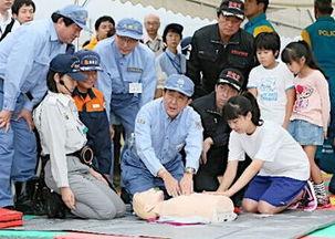 日本首相安倍晋三9月1日上午指挥东京大地震