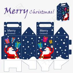 圣诞节节日礼盒包装展开图模板素材图片免费下载 高清psd 千库网 图片编号9021400