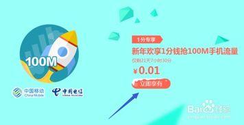 一分钱专享流量活动(中国移动网上营业厅,)