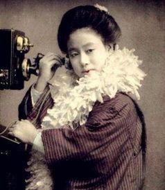 上色老照片中的日本艺妓(组图)