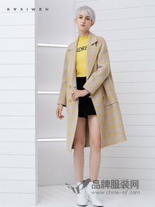 KAXIWEN佧茜文女装2018秋冬羊毛款显瘦双面呢大衣