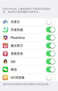 苹果手机为什么隐私里不能设置相机