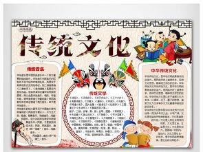 小学生手抄报传统文化模板