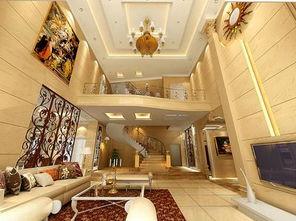简欧风格独栋别墅楼梯装修效果图欣赏