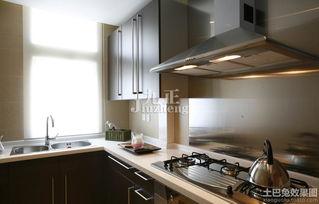 厨房不锈钢灶台装修效果图装修效果图 第1张 家居图库 九正家居网
