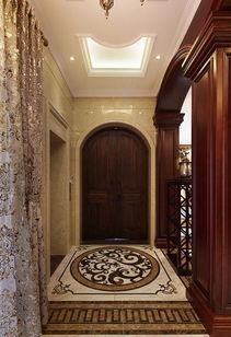 大型门厅过道地面拼花装修效果图