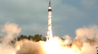 资料图:印度试射烈火5洲际导弹