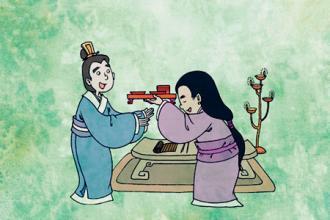 举案齐眉是汉时梁鸿和妻子孟光的故事.