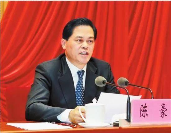 省委书记陈豪受省委常委会委托作报告.