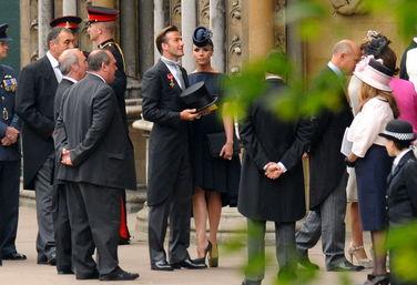 2011年4月29日,英国伦敦,体育界明星贝克汉姆出席威廉王子婚礼。