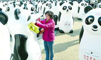800多只收旧衣熊猫现身南京路 目前申城约有三四千个