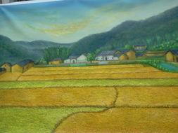 晒晒我的油画作品 家乡 猜猜这是哪里