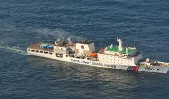 海试中的万吨海警船