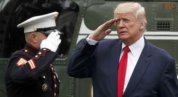 美国总统特朗普中断休假提前返回白宫组图